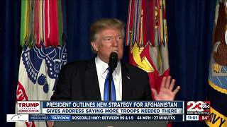 President Trump outlines new strategy for Afghanistan