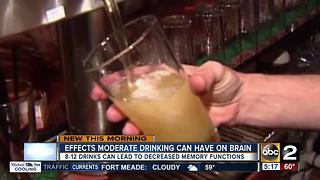 Study: Moderate drinking can damage the brain - Video