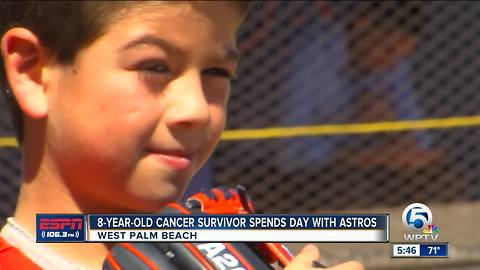 Lance McCullers Jr., Houston Astros surprise eight-year-old cancer survivor