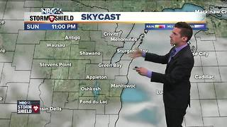 Storm chances return for Monday - Video