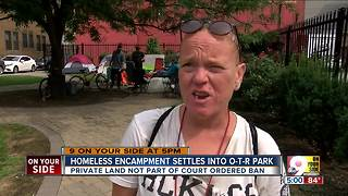 New homeless camp evades judge's ban - Video