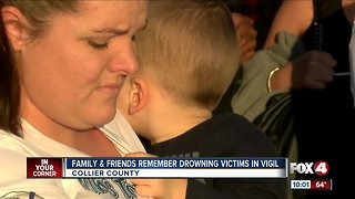 Vigil held to remember children drowning victims
