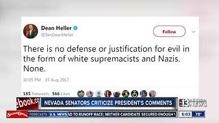 Nevada senators criticize President Trump's response to Charlottesvile - Video
