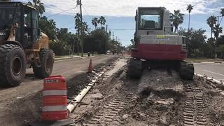 Construction on Pass-a-grille way won't be done until 2019  | Digital Short - Video