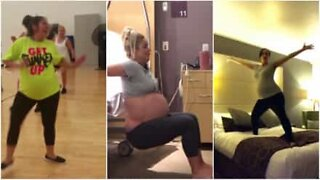 These pregnant women got the moves!