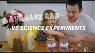Dad and Daughter Discover Awesome Science Experiment