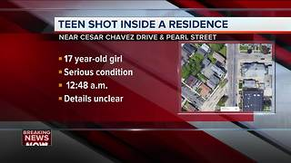17-year-old girl seriously injured in overnight shooting on Milwaukee's south side - Video