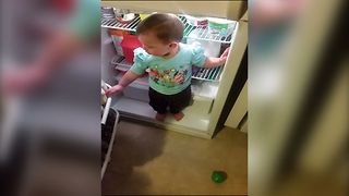 Tot Makes A Leap of Faith - Video