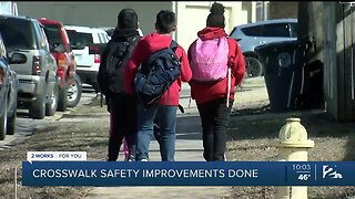Boevers Elementary gets new crosswalk after hit-and-run
