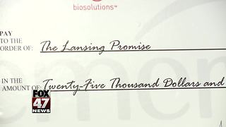 Lansing company donates $25,000 to Lansing Promise - Video