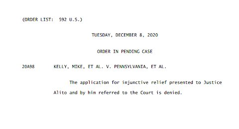 What Does the SCOTUS Order Denying Relief in the Case of KELLY V. PENNSYLVANIA Mean?.