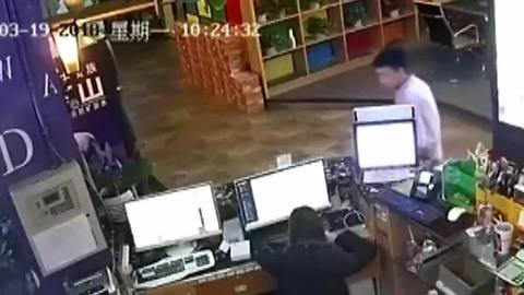 Exploding fridge nearly takes out customer at internet cafe