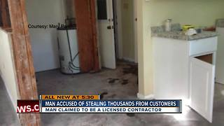 Man accused of stealing thousands from customers - Video