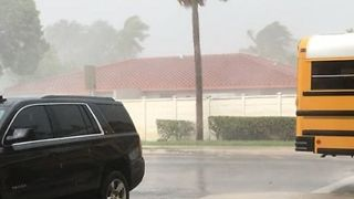 Strong Storms with Wind, Heavy Rain Sweep Across Southern Florida - Video