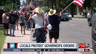 About 200 protesters rally against governor's stay-at-home order in Bakersfield