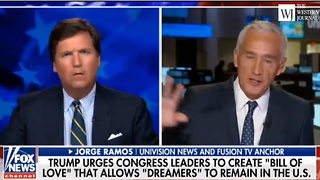 Tucker Carlson to Jorge Ramos: 'You're Accusing People You Disagree With of Bigotry' (C) - Video