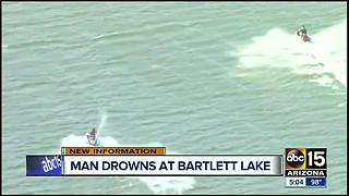 Police identify man who drowned at Bartlett Lake - Video