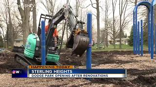 Dodge Park opening in Sterling Heights after renovations - Video