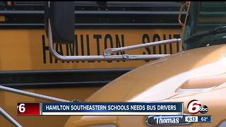 Hamilton Southeastern Schools need bus drivers - Video