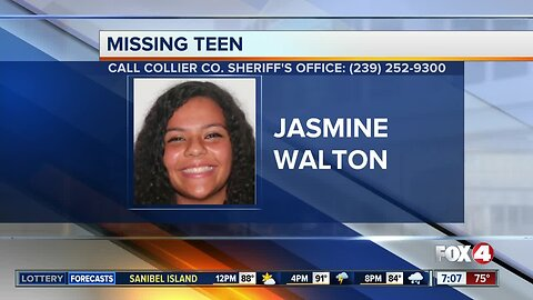 Collier County teen Jasmine Walton reported missing