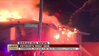 Commercial building fire on Detroit's west side