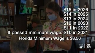$15 an hour minimum wage question on Florida ballot