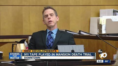 911 tape played in mansion death trial