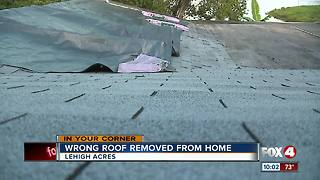 Roofer takes roof off wrong house - Video