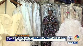Bride-to-be left without wedding dress - Video