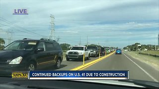 Construction project causing major delays for drivers along US 41 near the port