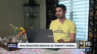 Prescott Valley man registers beehive as therapy animal