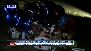 Friends mourn death of Jahiem Robertson in DUI crash - Video