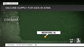 What does the vaccine supply look like for kids in Iowa?