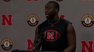 Nebraska football preseason press conference: Freedom Akinmoladun - Video
