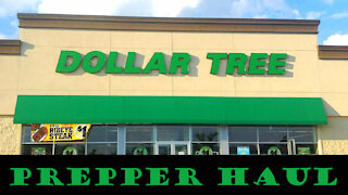 Prepper Haul from Dollar Tree ~ Stock Up ~ Be Prepared