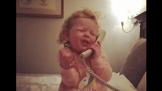 A Call to Charms: Adorable Toddler Has So Much to Talk About - Video