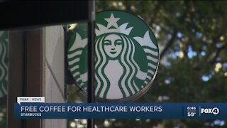 Starbucks offers free coffee to healthcare workers