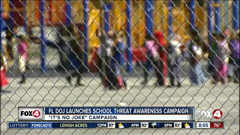 Florida officials launch new school threat awareness campaign