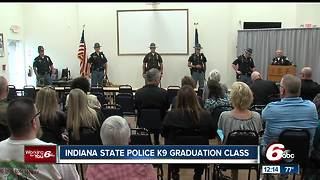 Graduation for new Indiana State Police K9 class - Video