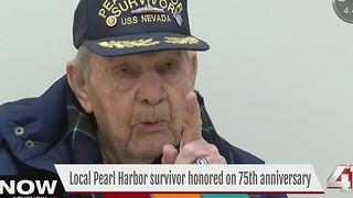 Local pearl harbor survivor honored on 75th anniversary - Video