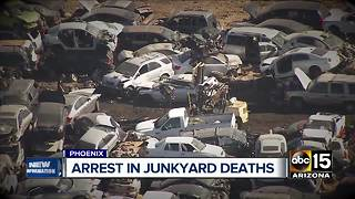 Arrest made in Phoenix junkyard deaths - Video
