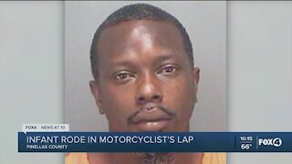 Infant in critical condition, riding on step-father's lap during motorcycle crash