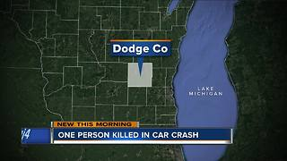 1 dead after fiery crash Friday night in Dodge County - Video