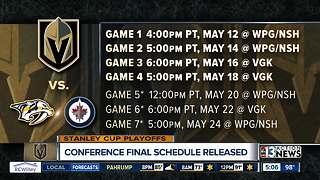 Western Conference Finals Schedule released - Video