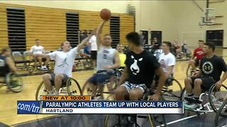 Paralympic athletes team up with local players