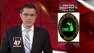 State Park officers want to carry guns - Video