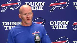 Bills head coach Sean McDermott on Cameron Jefferson raising his fist during the national anthem