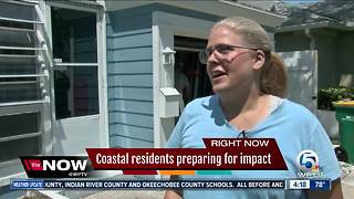 Coastal residents preparing for impact - Video