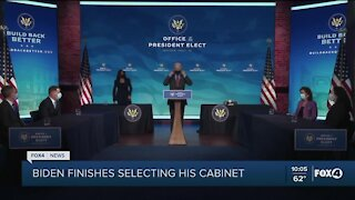 Biden completes selecting his cabinet
