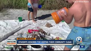 Students honored for keeping their community clean